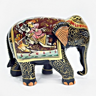 Wooden Miniature Painted Elephant