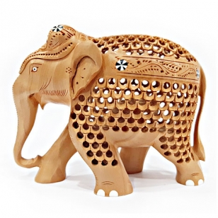 Undercut Elephant Statue (10cm Height)