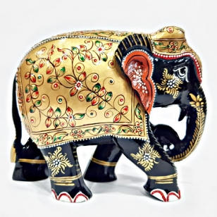 Wooden Decorative Elephant Painted