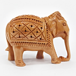 Wooden Carving Elephant Small