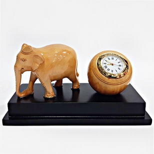 Table Top Clock with Elephant