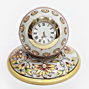Marble Clock Painted