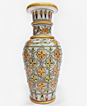 Elegant Marble Pot Painted