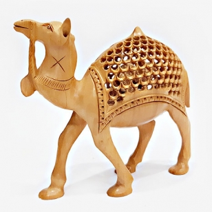 Wooden Jali Camel Medium