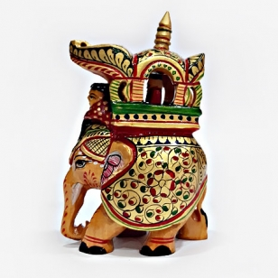 Wooden Painted Ambabari Idol