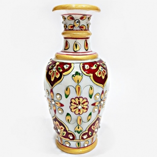 Elegant Marble Painted Flower Vase