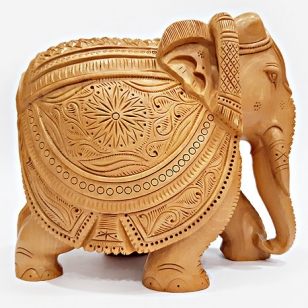 Wooden Carving Elephant Big