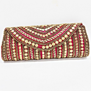 Stylish Silk Box Clutch