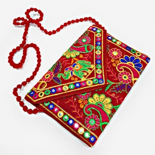 Women's Embroidered Clutch Bag