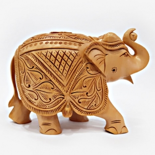 Elegant Hand Carved Elephant