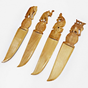 Wooden Carved Paper cutter - Pack of 4pc