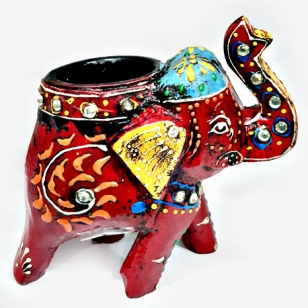 Elegant Elephant Design Candle Holder