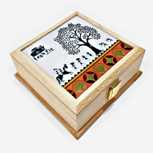 Warli Art Wooden Box