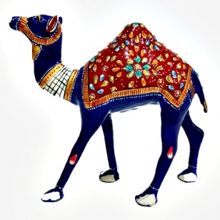 20cm Height Decorative Meenakari Camel