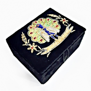 Embroidered Velvet Jewellery Box