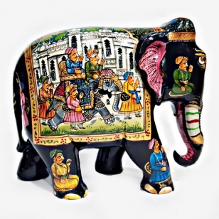 Miniature Painted Wooden Elephant