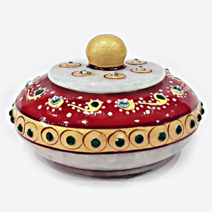 Decorative Marble Sindoor Box