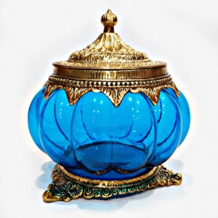 Elegant Glass Jar with Lid