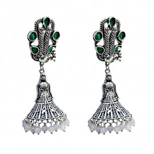 Alloy Doll Design & Peacock Earring