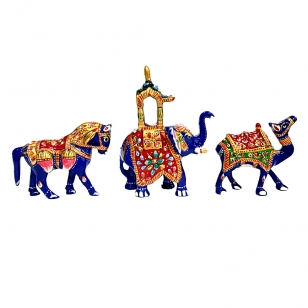 Meenakari Animal Procession in Indian Culture