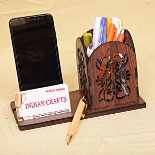Stylish Pen Holder with Mobile & Visting Card Holder