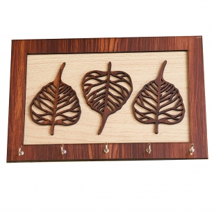 Stylish Leaf Design Key Holder with 5 hooks
