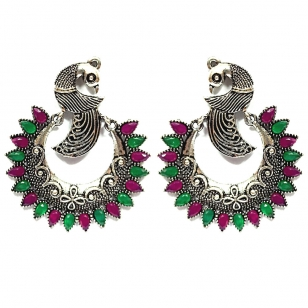 Alloy Peacock Design Earring