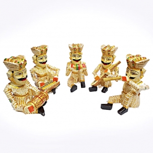 Rajasthani Musician Set - 23cm Height (Set of 5pc)