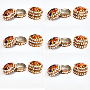 Elegant Kumkum Box -Pack of 12pc