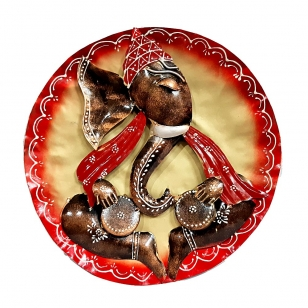 Wall Decor Round Ganesha