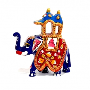 Metal Meenakari Ambabari - 8cm Height