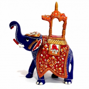 Metal Meenakari Ambabari - 15cm Height