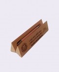 Triangular pen box with pen