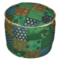 Patchwork round Pouf Cover