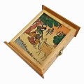 Wooden Gemstone Painted Key Holder Box