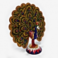 Metal Dancing Peacock Statue 4 inch