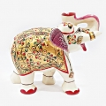 Marble Floral Painted Elephant