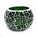 Crackle Mosaic Candle Holder - Pack of 2pc