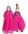 Rajasthani Puppets Pair Big