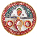 Decorative Marble Pooja ki Thali