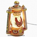 Marble Jewellery Painted Lantern Lamp