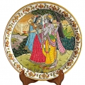 Painting of Radha Krishna on Marble