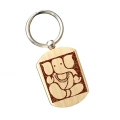 Wooden Key chain engraving - Pack of 12pc