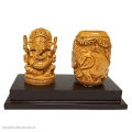 Wooden Pen Holder & Ganesh on Base