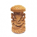 Wooden Ganesh Idol