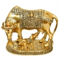 White Metal Cow & Calf (Golden)