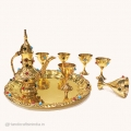 Brass Wine Set Showpiece