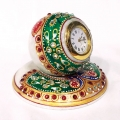 Marble Peacock Painted Clock