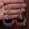 Jhumki Earrings with Multi Beads