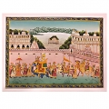 Mughal Procession Painting on Silk